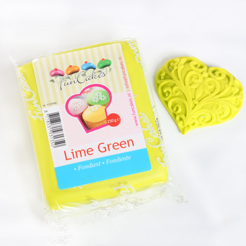FunCakes Fondant Verde Lima 250 g