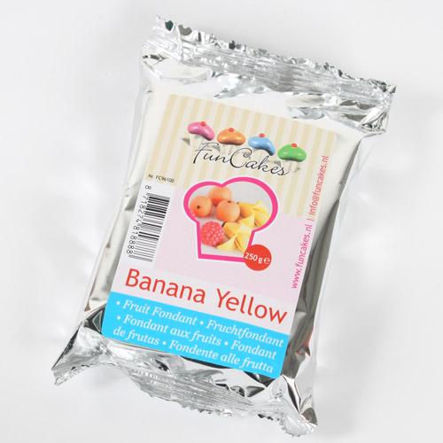 FunCakes Fondant de Fruta -       Plátano 250g