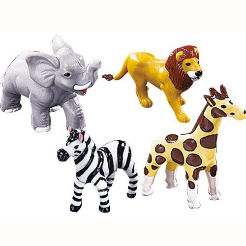 Set decoración 4 animales de la selva Wilton