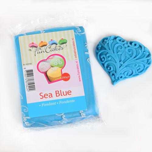 FunCakes Fondant Azul Mar -250g-