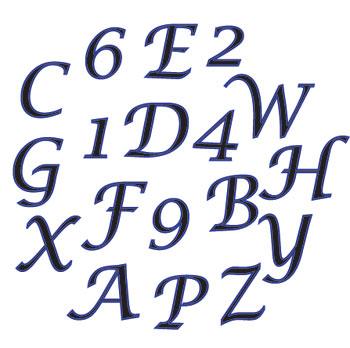 Marcador-Cortador  Abecedario y números
