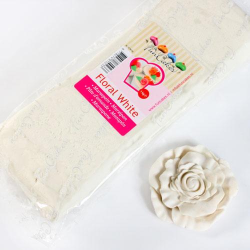 FunCakes Mazapán Blanco Flor - 1kg