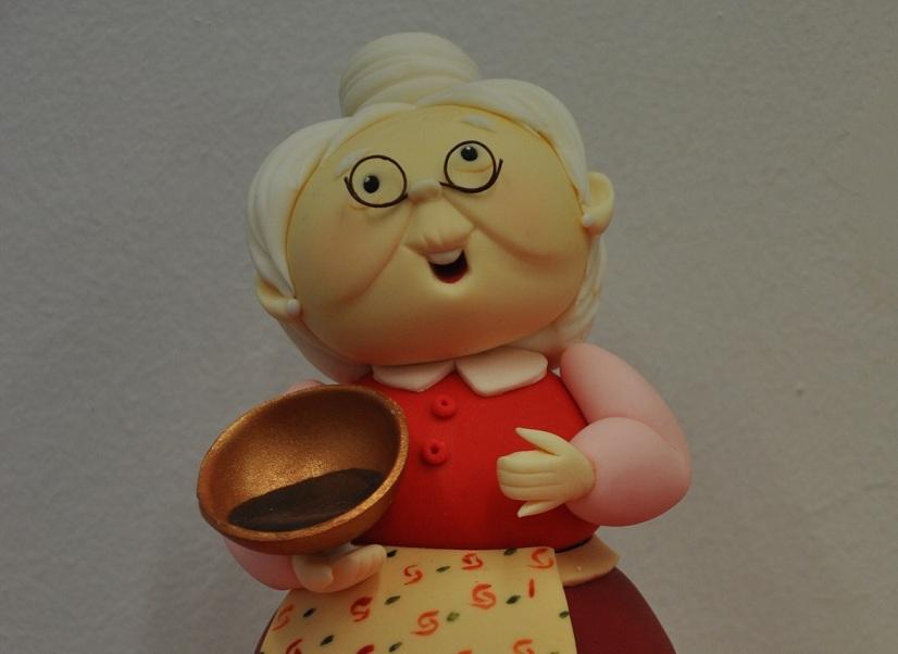 La abuelita de la tienda. Otra muestra mas de Arte y Dulces Momentos.